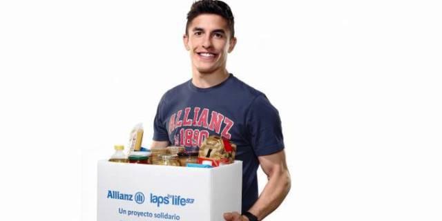 """Marc Márquez, embajador de la iniciativa """"Callemos el hambre"""" (Foto: Allianz)."""
