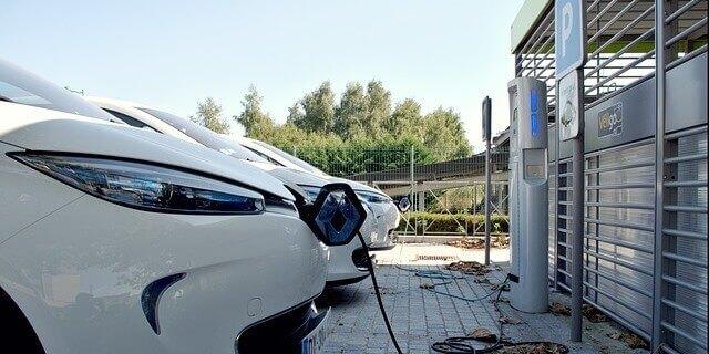 Punto de carga para un coche electrico.