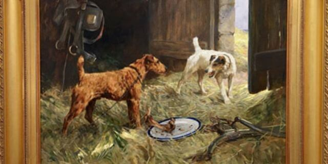 Pintura de perros (Foto: William Secord).