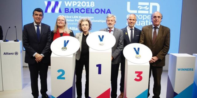 Presentación medallas europe waterpolo 2018 barcelona con Allianz