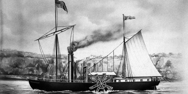 Primer barco a vapor de la historia.