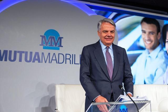 El Presidente del Grupo Mutua Madrileña, Ignacio Garralda, en la Junta General en la que se anunciaron nuevas medidas de digitalización