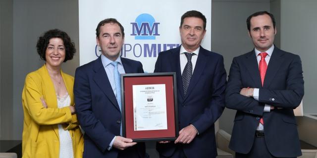 Grupo Mutua ha recibido el certificado de AENOR en Prevencion de Delitos y Riesgos Penales