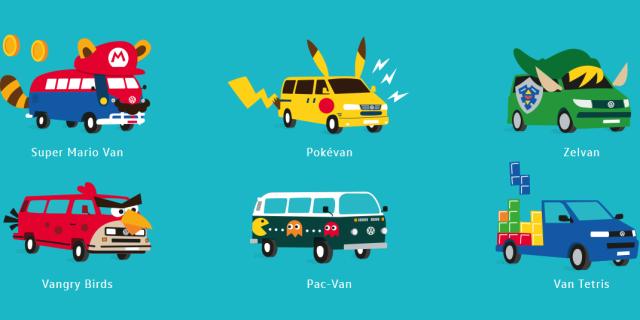 La FurgoVolkswagen 2018 anima a disfrazar nuestras furgonetas y van de Volkswagen de videojuegos como Zelda Super Mario Pac-Man Pokémon Tetris Angry Birds