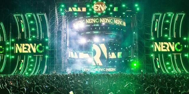 Concierto de Nervo en un festival.