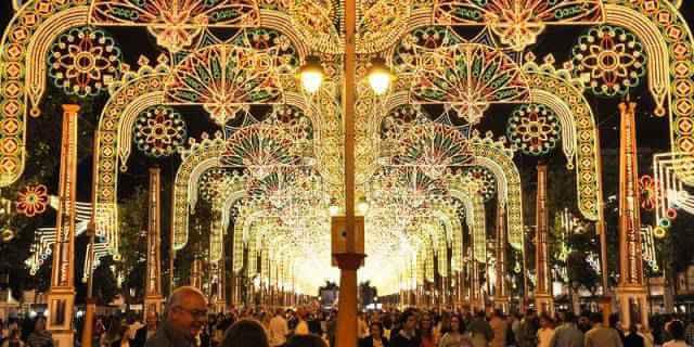 Alumbrado de la Feria de Jerez (Foto: Ayuntamiento de Jerez).