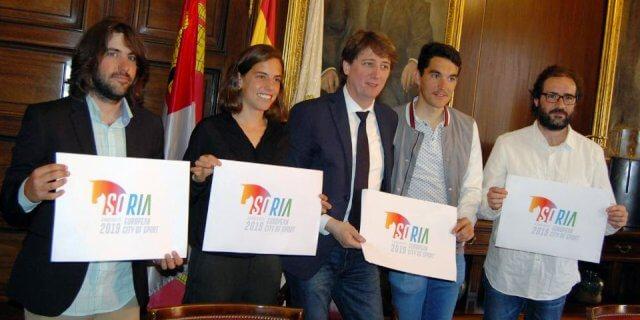 Presentación del logo de la candidatura de Soria (Foto: Ayuntamiento de Soria).