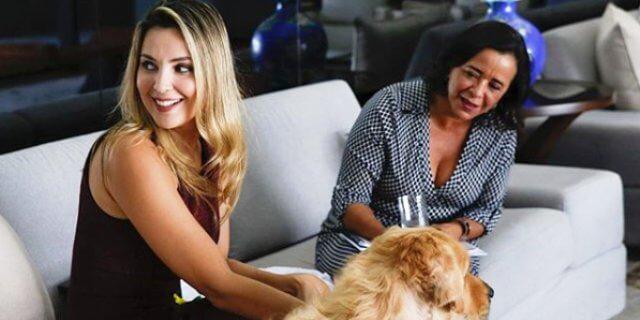Marcela Temer, primera dama de Brasil, con uno de sus perros (Foto: Instagram).