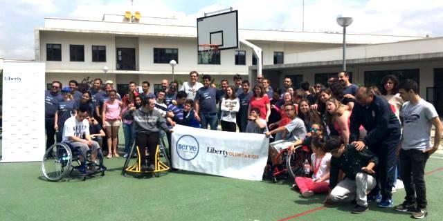 semana del voluntariado celebrada en mayo de 2018 en Liberty Seguros
