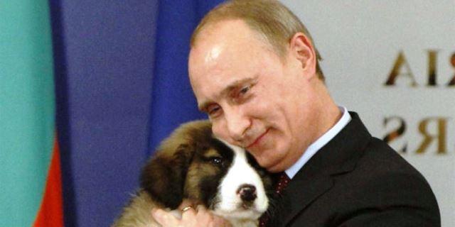 Putin y su perro Buffy.