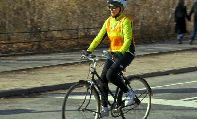 Chaleco reflectante ciclista