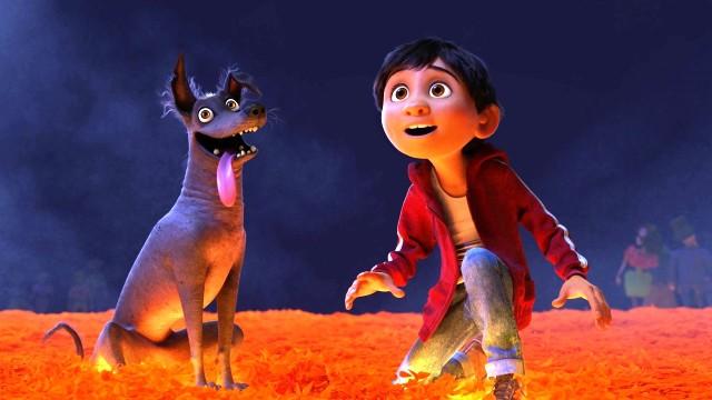 Dante, el perro de Miguel en Coco.