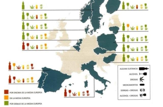 mapa de consumo de sustancias europa al volante