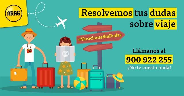 #VacacionesSinDudas de ARAG para clarificar qué hacer si tienes problemas en vacaciones