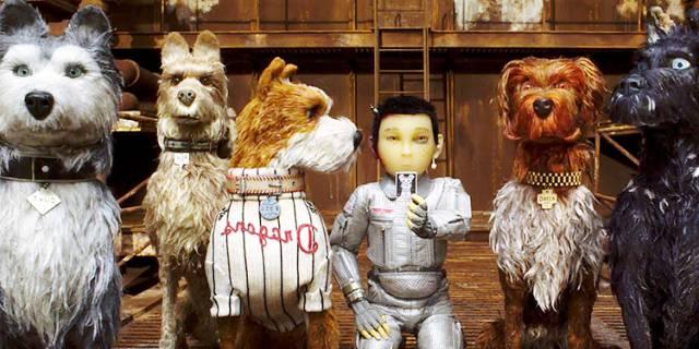 Los protagonistas de Isla de perros.