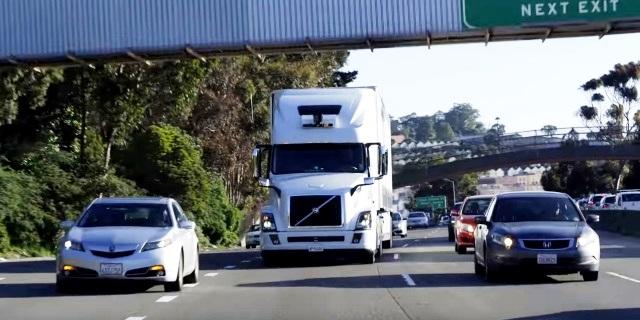 camión autónomo de UBER