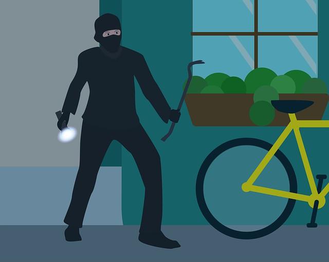 Ladrón roba en un hogar.
