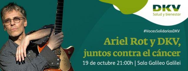 Ariel Rot en el concierto solidario de DKV