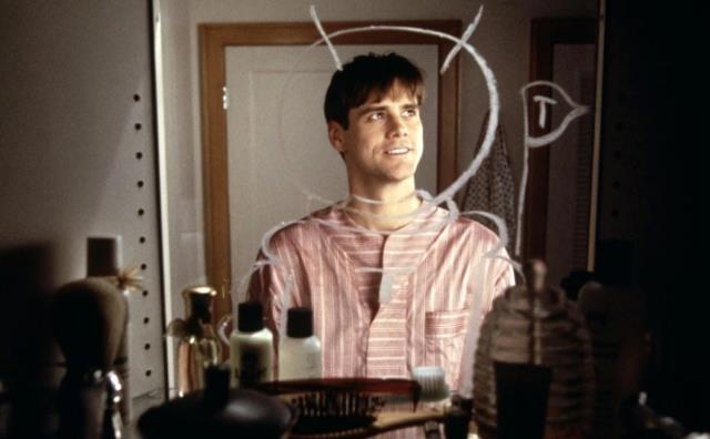 Fotograma de Jim Carrey actuando en la película El show de Truman