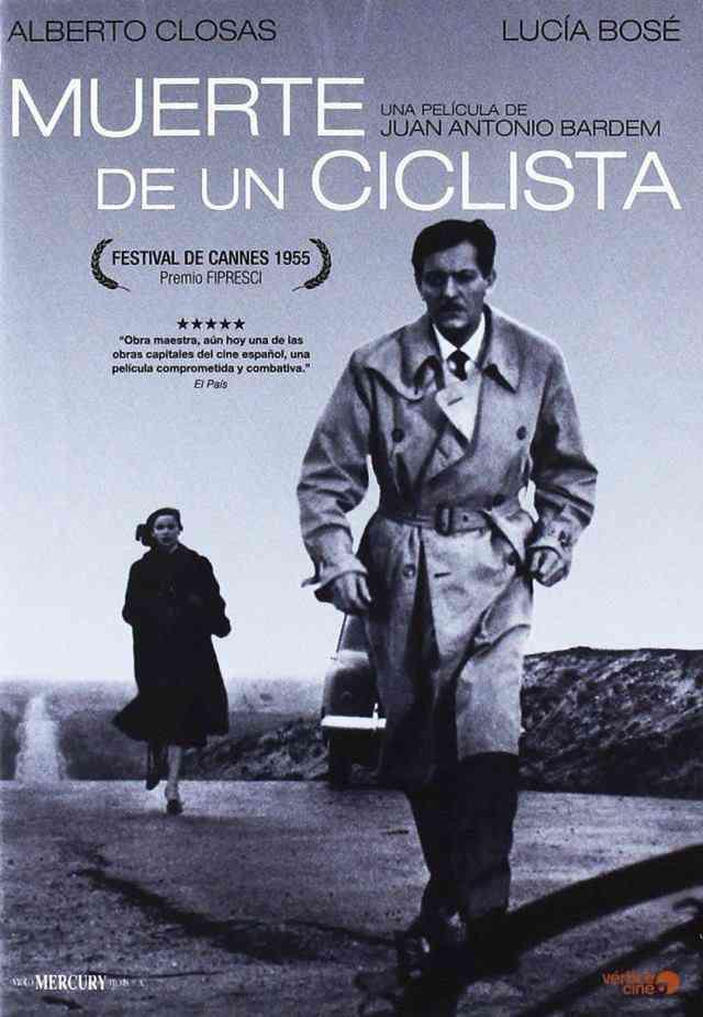 Póster de la película española Muerte de un ciclista.
