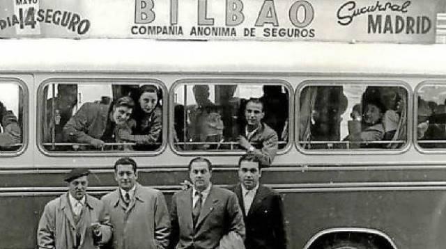 imagen de Seguros Bilbao hace casi 100 años en su delegación de Madrid (Foto: Seguros Bilbao)