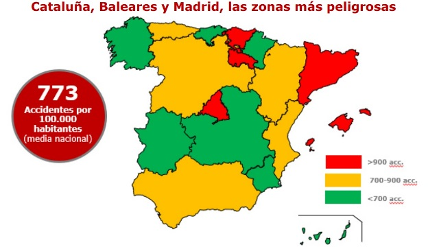 MAPA ACCIDENTALIDAD POR COMUNIDADES