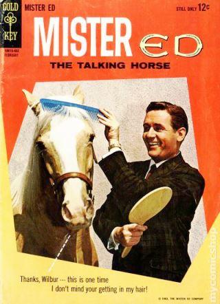 Mr Ed en las revistas con el otro caballo palomino