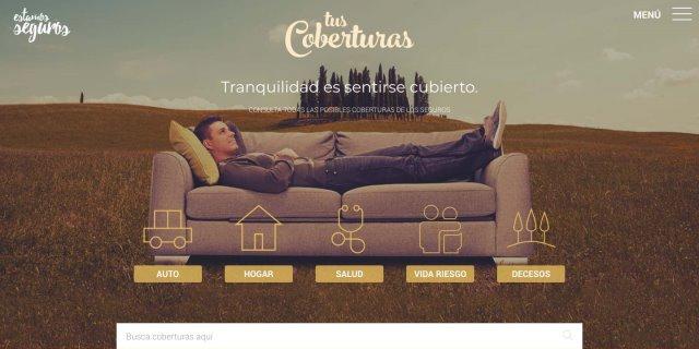Pantallazo de Tus Coberturas , el portal del seguro lanzado por UNESPA