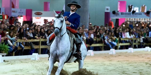 Un jinete en la Madrid Horse Week de 2017.