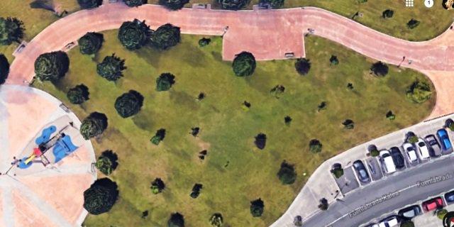 La zona en la que se ubicará la zona de esparcimiento para perros.