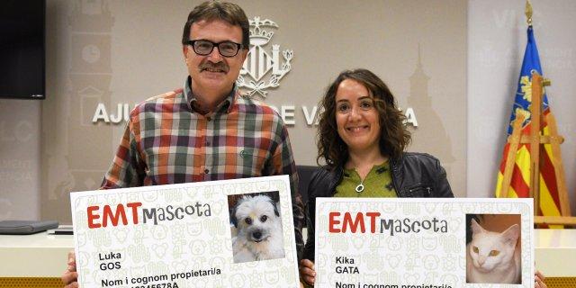 Presentación de la nueva tarjeta de transporte para mascotas en Valencia.
