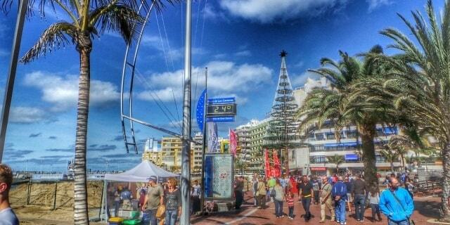 Playa de Las Palmas en Navidad