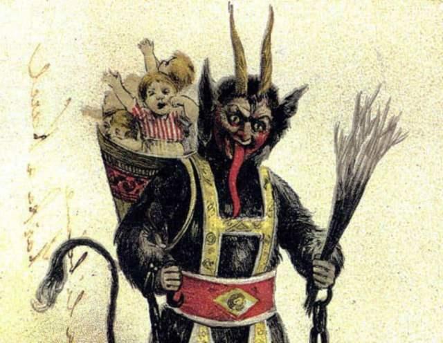 Krampus, la némesis de Papá Noel en Navidad