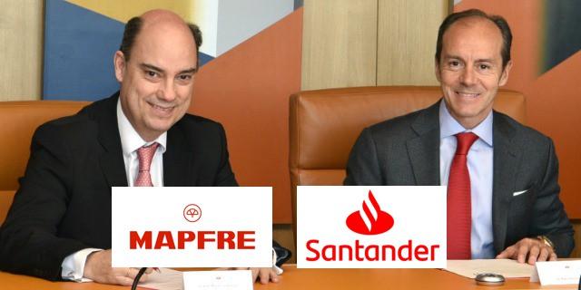 alianza entre MAPFRE y el Banco Santander para vender seguros juntos
