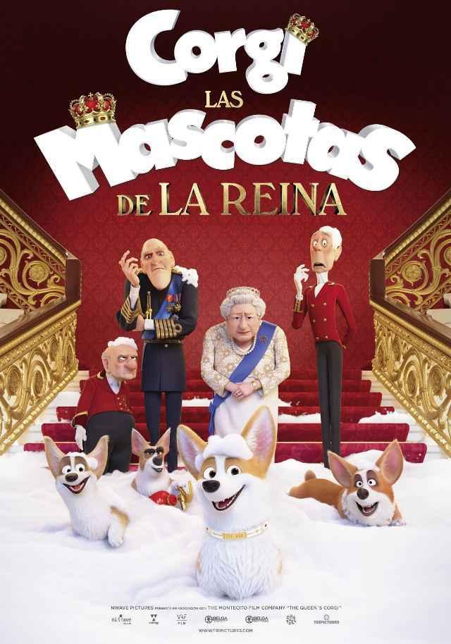 Cartel de la película Corgi, las mascotas de la Reina.