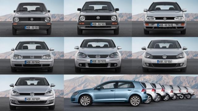 El Golf y sus siete generaciones de vehículos