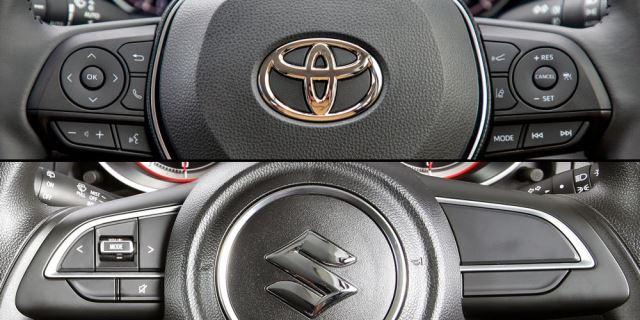 Volante de Toyota y volante de Suzuki