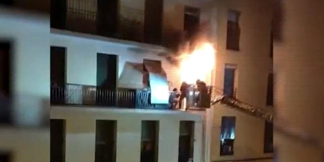 Rescate en un incendio