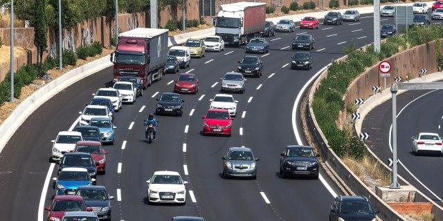 seguridad vial en atasco