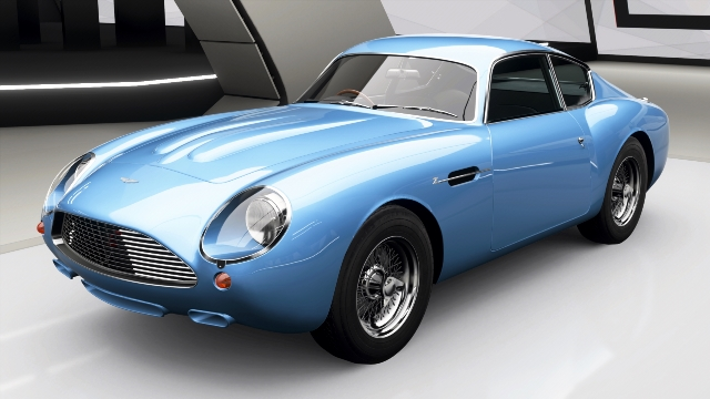 modelo Aston Martin Zagato azul