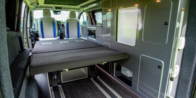 espacio interior camper MS-RT Transit Custom