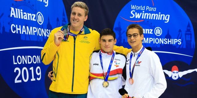 Jacobo Garrido ha debutado con una medalla de oro en el Mundial Paralímpico de Natación de Londres