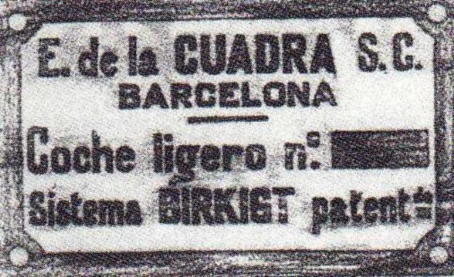 Placa La Cuadra