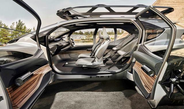 interior del Audi IA TRAIL quattro
