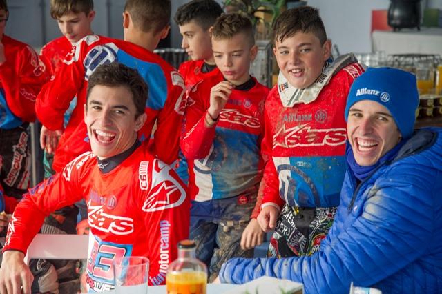 Hermanos Márquez en una foto de la pasada edición de la Allianz Junior Motor Camp