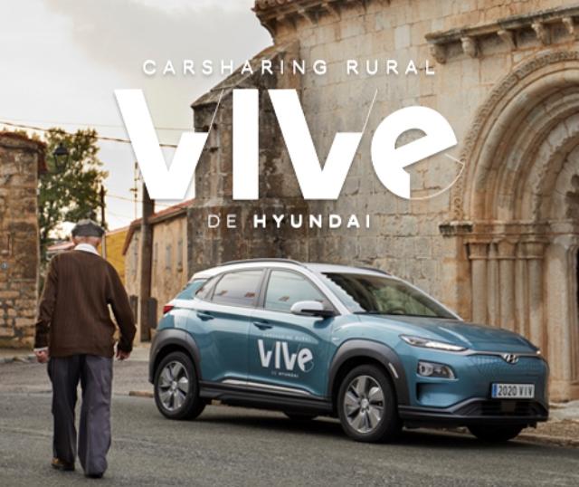 CARTEL DE VIVE el nuevo servicio de carsharing rural lanzado por HYUNDAI