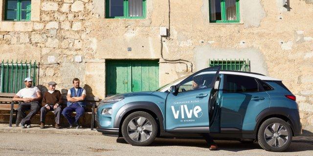 VIVE es el nombre del nuevo servicio de carsharing rural lanzado por HYUNDAI
