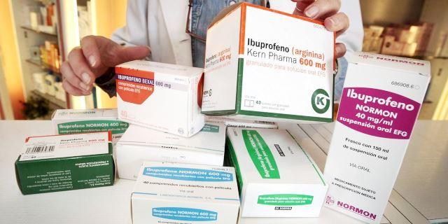 ibuprofeno en distintos formatos