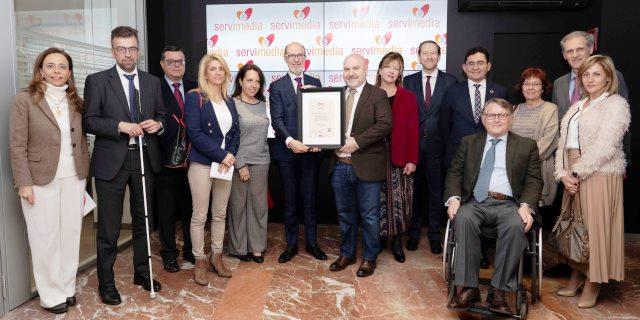 Pelayo recibe el Sello Bequal Premium, que certifica la excelencia de su política inclusiva con las personas con discapacidad