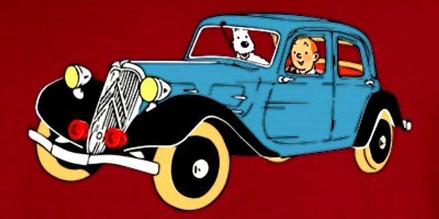 Tintín en un Citroën